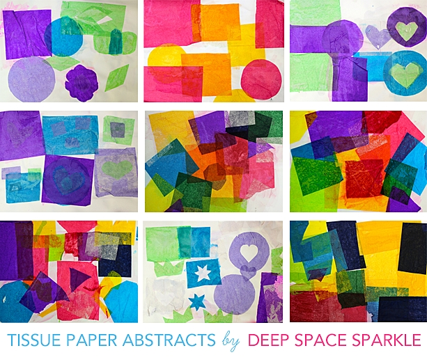Tissue-Paper-Art-Gallery | Deep Space Sparkle in Tissue Paper Art For Kids 27480