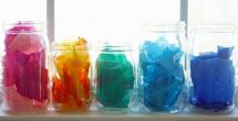 Tissue Paper Jar Crafts
