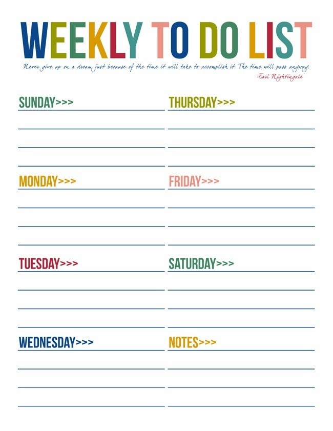 To Do List Free Printables | Free Printable, Free And Organizing intended for Printable Weekly To Do List For Work 25353