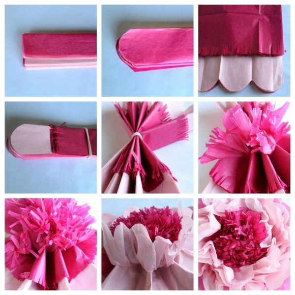 To Make Giant Tissue Paper Flowers throughout How To Make Paper Flowers With Tissue Paper Step By Step
