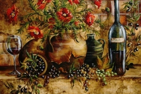 Tuscan Kitchen Wall Art | Designcorner With Tuscan Kitchen Wall intended for Tuscan Kitchen Wall Art 27089