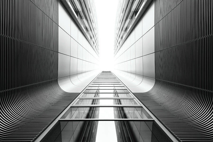 Uncluttered Black And White Architecture Photography – Fubiz Media within Black And White Architecture Photography 29907