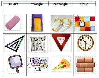 Use This Geometry Sort To Check Students' Understanding Of Shapes regarding Geometry Shapes In Real Life