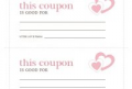 Valentine Coupon Template