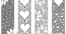 Bookmarks To Print And Colour