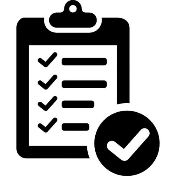 Verification Of Delivery List Clipboard Symbol Icons   Free inside Checklist Icon Black And White 26163