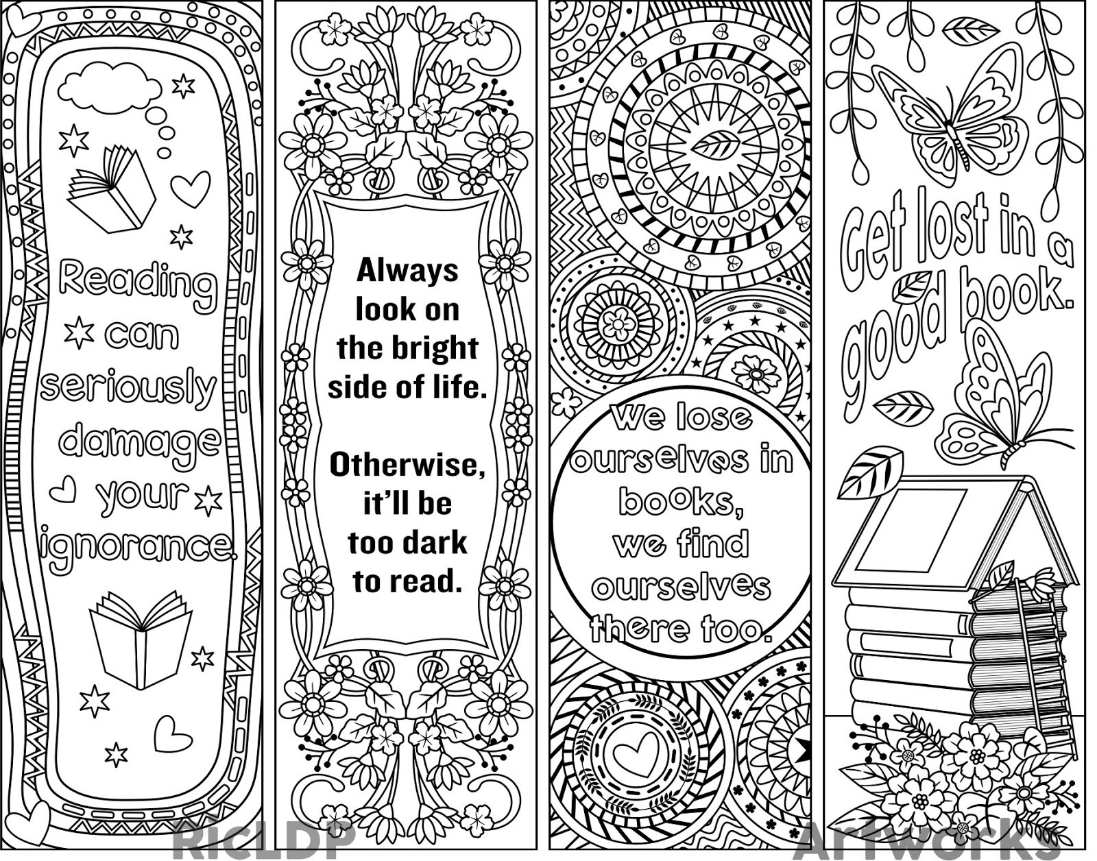 View Source Image | Bookmarks | Pinterest | View Source, Bookmarks pertaining to Bookmark Designs To Print Black And White 25873