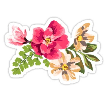 "Vintage Flower"" Stickers By Junkydotcom 