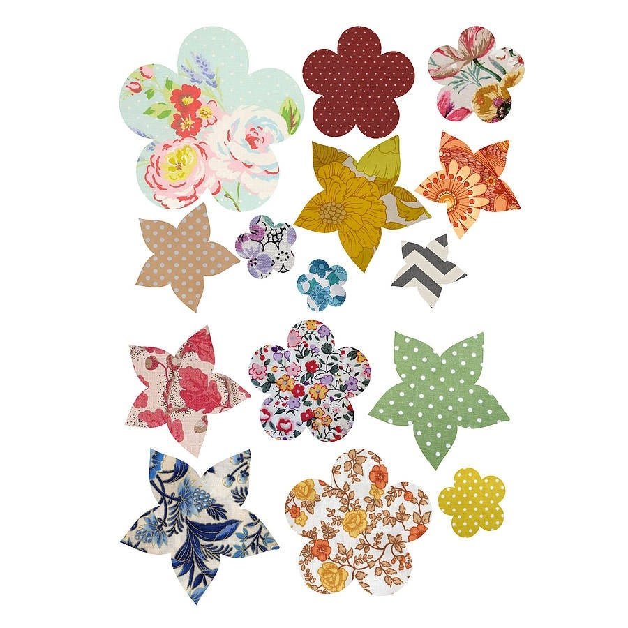 Vintage Flower' Vinyl Wall Stickers By Oakdene Designs intended for Vintage Flower Stickers 28280