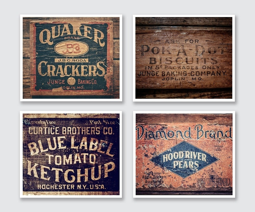 Vintage Kitchen Wall Art | World Of Example for Vintage Kitchen Wall Art 26604