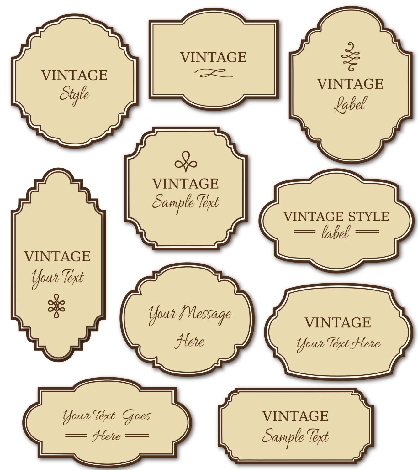 Vintage Label Templates Png | World Of Label throughout Vintage Label Templates 26543