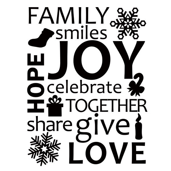 Vinyl Wall Lettering Family Celebrate Together Holiday Wall Art throughout Black And White Wall Art Quotes 26473