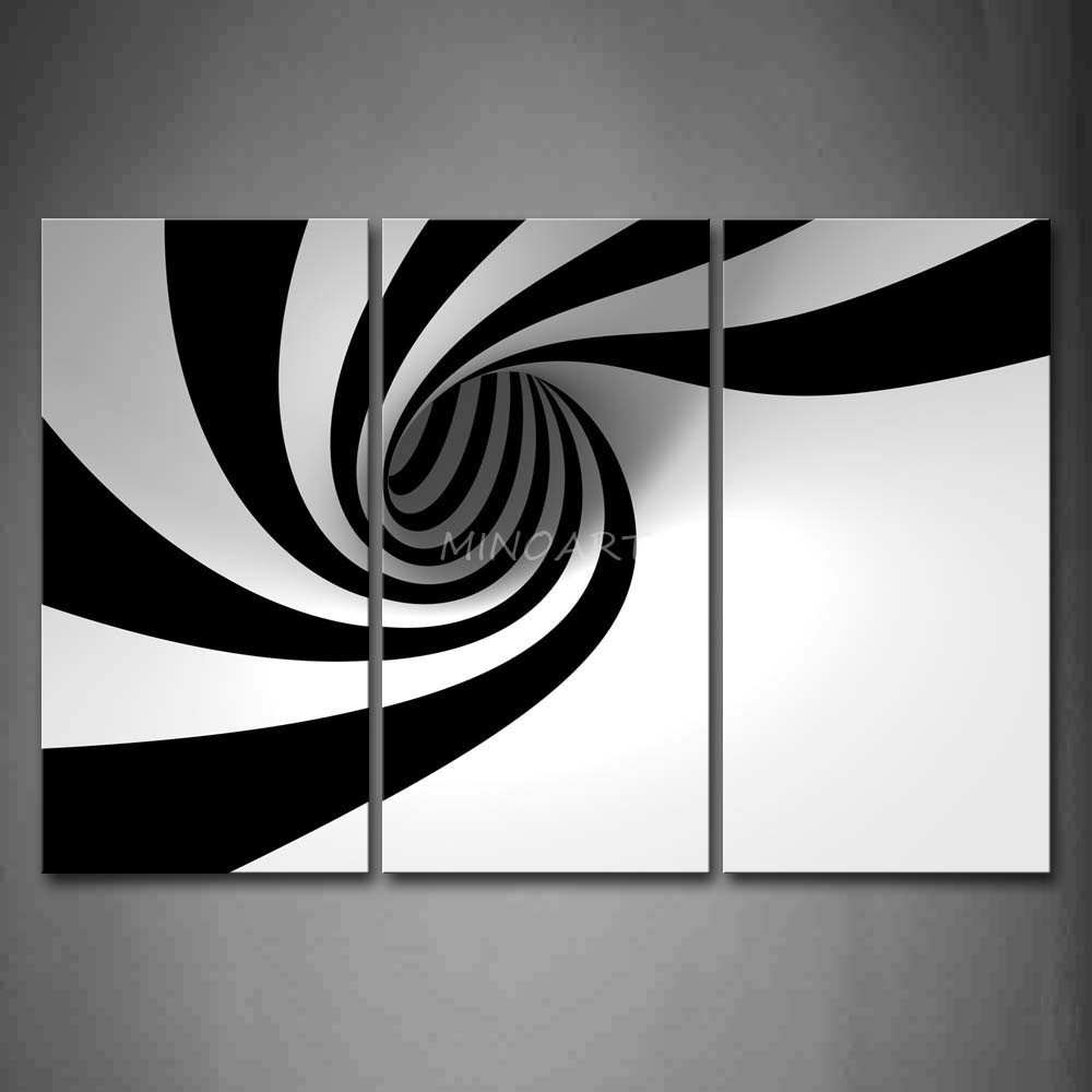 Wall Art Designs: Black And White Wall Art Rectangle Black White in Black And White Wall Art Painting 28031