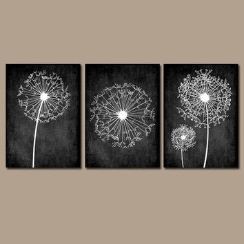 Wall Art Ideas Design : Dandelion Contemporary Black And White pertaining to Black And White Art Ideas 28170