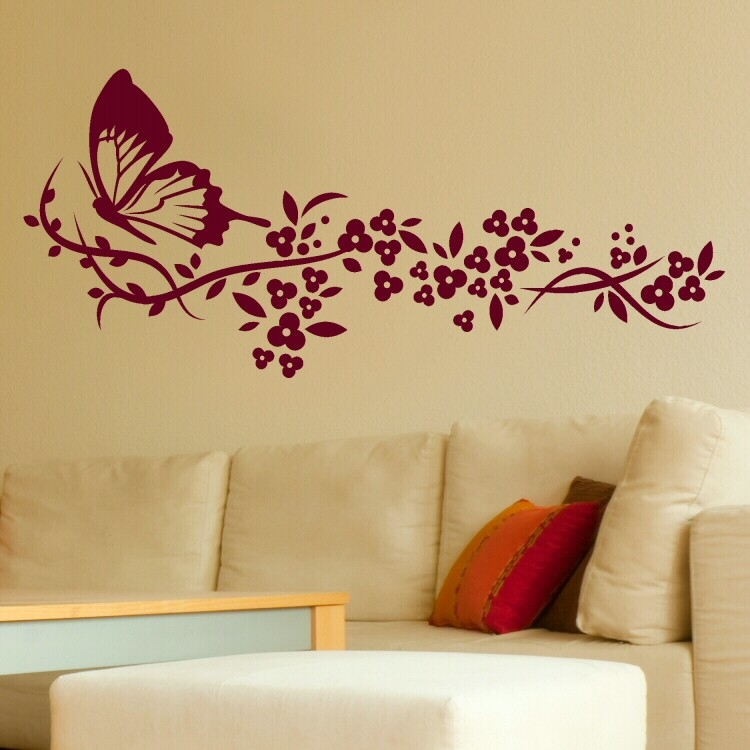 Wall Art Stickers Flowers | Home Decor & Interior/ Exterior intended for Vintage Wall Art Ideas For Bedroom 28432
