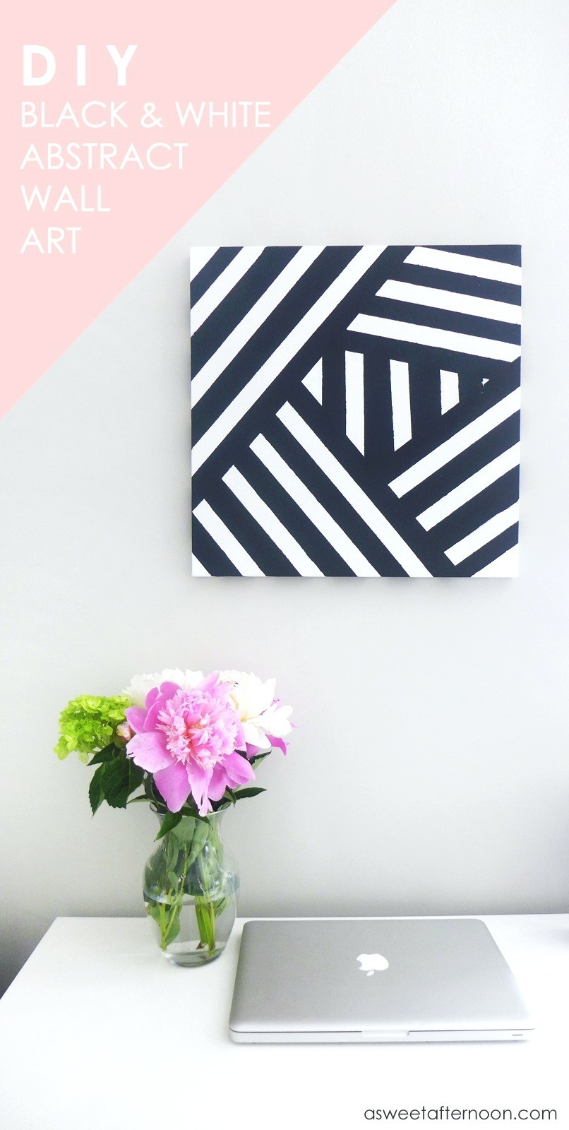 Wall Arts ~ Diy Black And White Abstract Wall Art Black White And pertaining to Black And White Wall Art Diy 27281