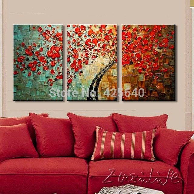 Wall Paintings For Living Room Tree Painting On Canvas Wall Art Intended  For Wall Art Paintings