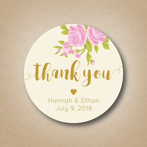 Wedding Thank You Stickers For Favors | Hnc with Thank You Stickers For Favors