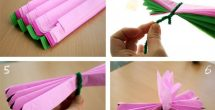 How To Make Paper Flowers With Tissue Paper Step By Step