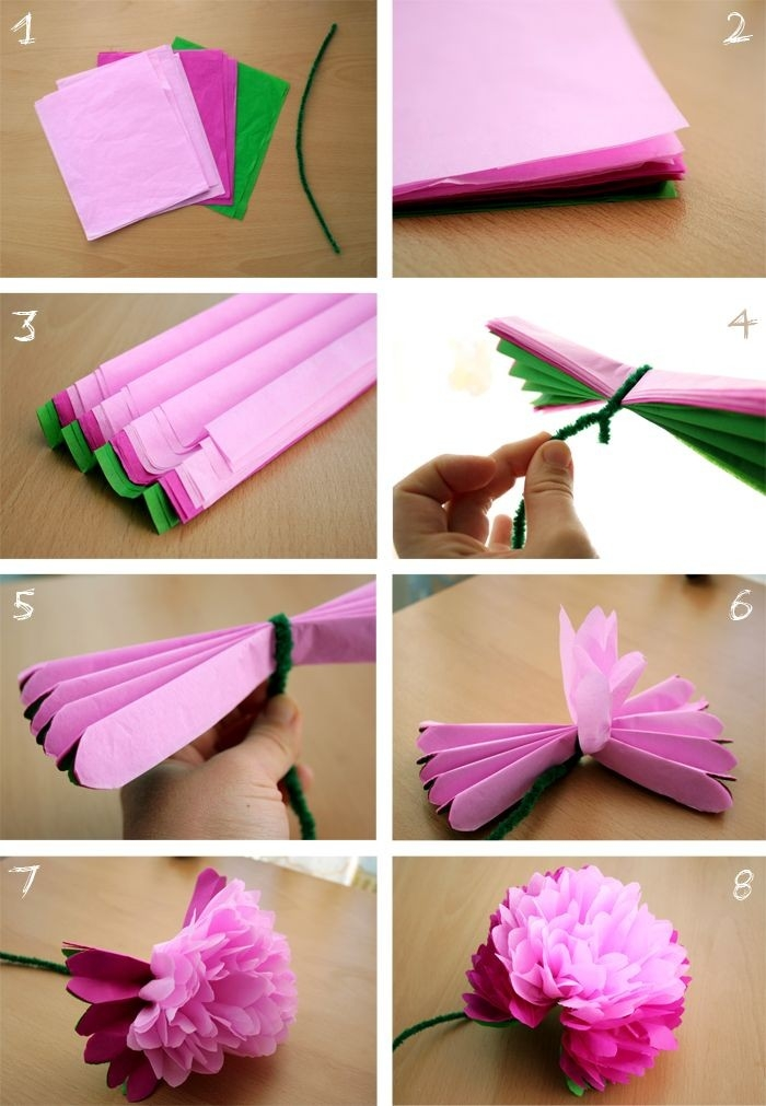 Week 18: Diy - Tissue Paper Peony Flower. Very Doable And Turns for How To Make Paper Flowers With Tissue Paper Step By Step 29055