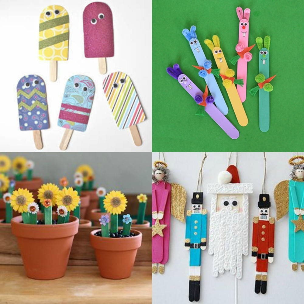 What To Make With Popsicle Sticks: 50+ Fun Crafts For Kids | 50Th intended for Easy Crafts For Kids With Popsicle Sticks 27039