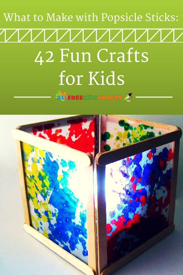 What To Make With Popsicle Sticks: 50+ Fun Crafts For Kids | Craft in Easy Crafts For Kids With Popsicle Sticks 27039