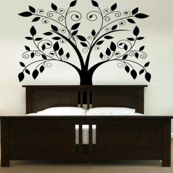 White Luxury Cool Interior Bedroom Wall Paint Design Mounted For