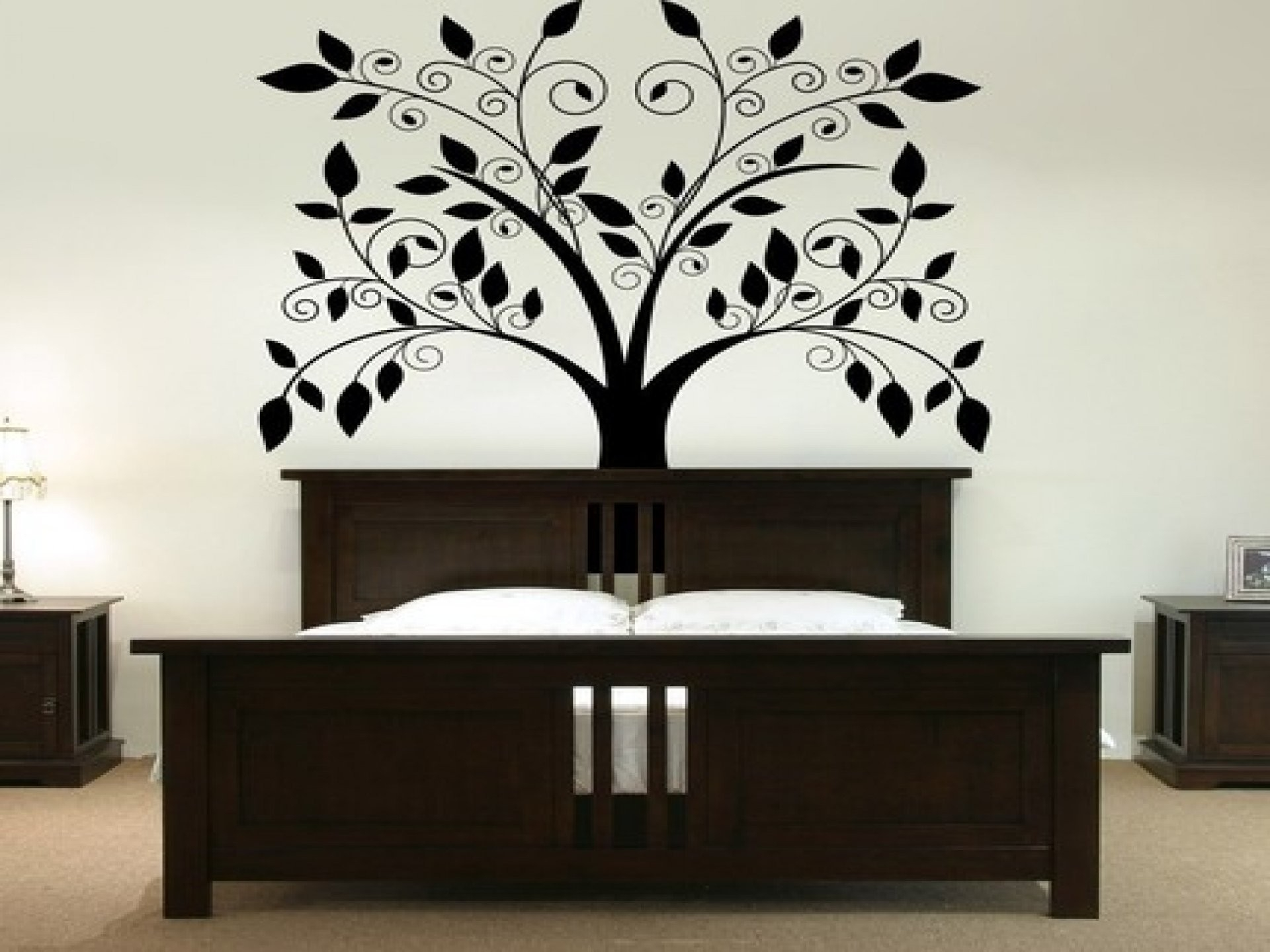 White Luxury Cool Interior Bedroom Wall Paint Design Mounted intended for Bedroom Wall Painting Designs Black And White 30010