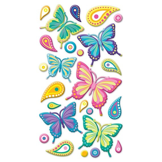 Wild Butterflies Sticko Scrapbooking Stickers By Lapetitefeuille regarding Butterfly Stickers For Scrapbooking 26493