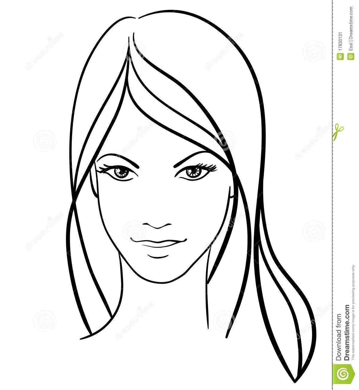 Women Faces Drawing At Getdrawings | Free For Personal Use regarding Simple Black And White Drawings Of Faces 30105