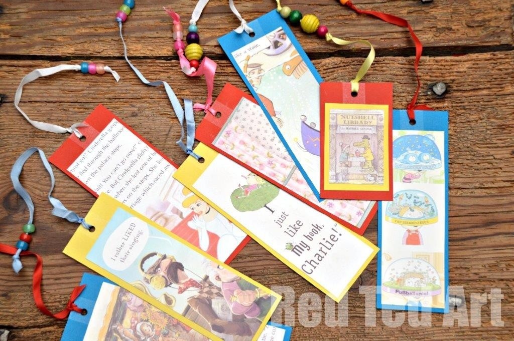 World Book Day Craft: Easy Bookmarks - Red Ted Art's Blog pertaining to Handmade Bookmarks For Books 29612