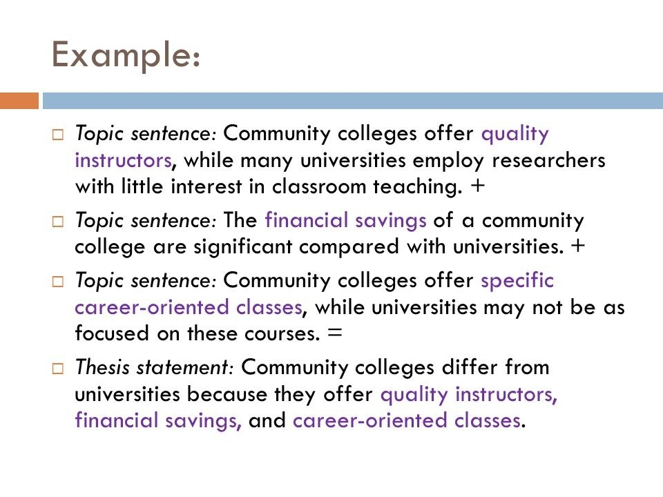 Writing A Thesis And Topic Sentences Courtesy Of The Writing for Topic Sentence Examples For College 28881