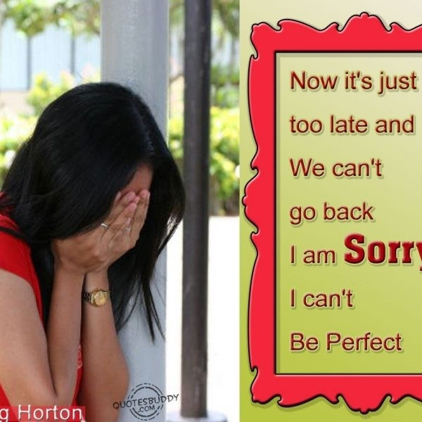 Yup! Enough Said. Sad To Say I Can't Be Perfect!! | Quotes That regarding Sweet Sorry Quotes For Boyfriend In Hindi 28575