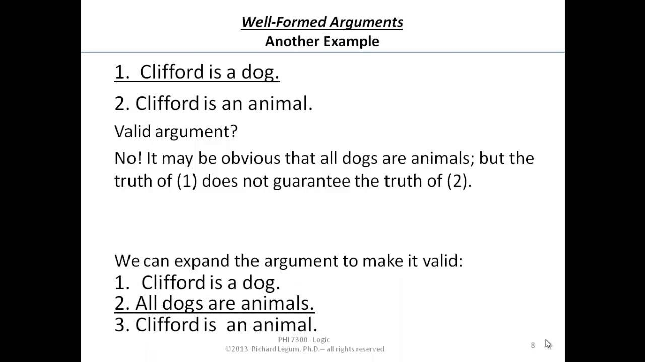 03-2-08 Valid Arguments - Counter-Example Method - Another Example with Examples Of Arguments 57507