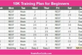 10K Training Schedule