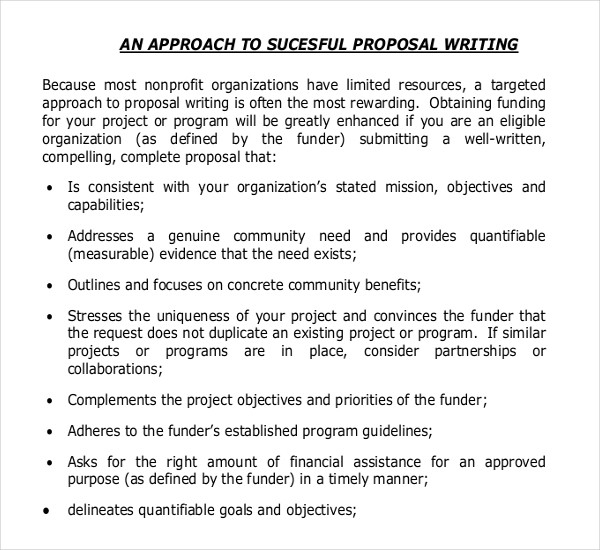 11+ Grant Writing Templates – Free Sample, Example Format Download in Examples Of Grant Proposals 56914