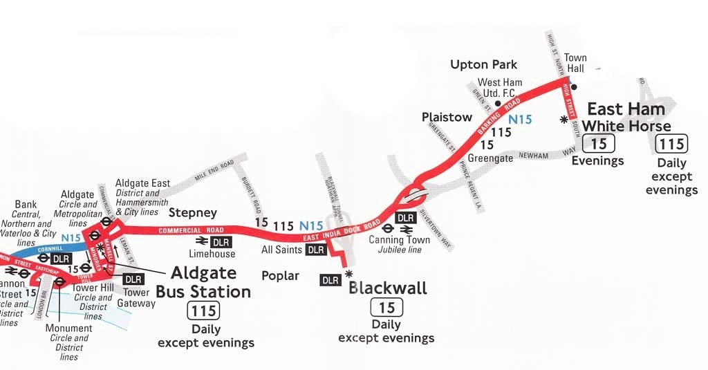 115 Bus Route Map - The Best Bus pertaining to 115 Bus Schedule 47472