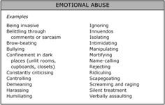 1394 Best Emotional-Verbal Abuse Images In 2018 | Psicologia with Mental Abuse Examples 57699