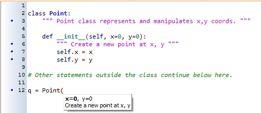 15. Classes And Objects — The Basics — How To Think Like A Computer intended for Python Class Example 57720
