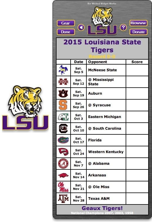 2015 Lsu Football Schedule - Google Search | Lsu | Pinterest with regard to Lsu Football Schedule 2015 45807