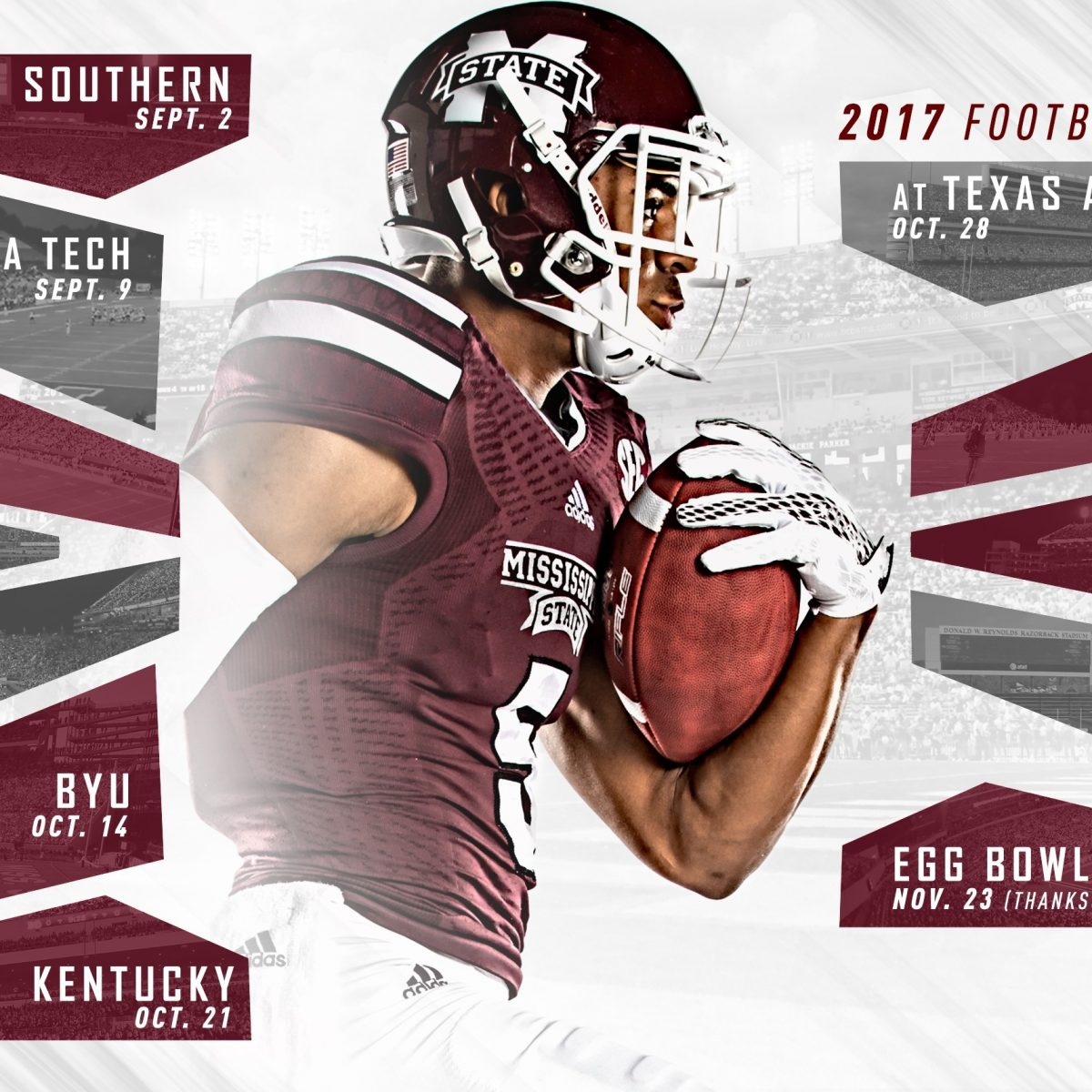 2017 Msu Football Schedule Unveiled, Egg Bowl To Return To in Mississippi State Football Schedule