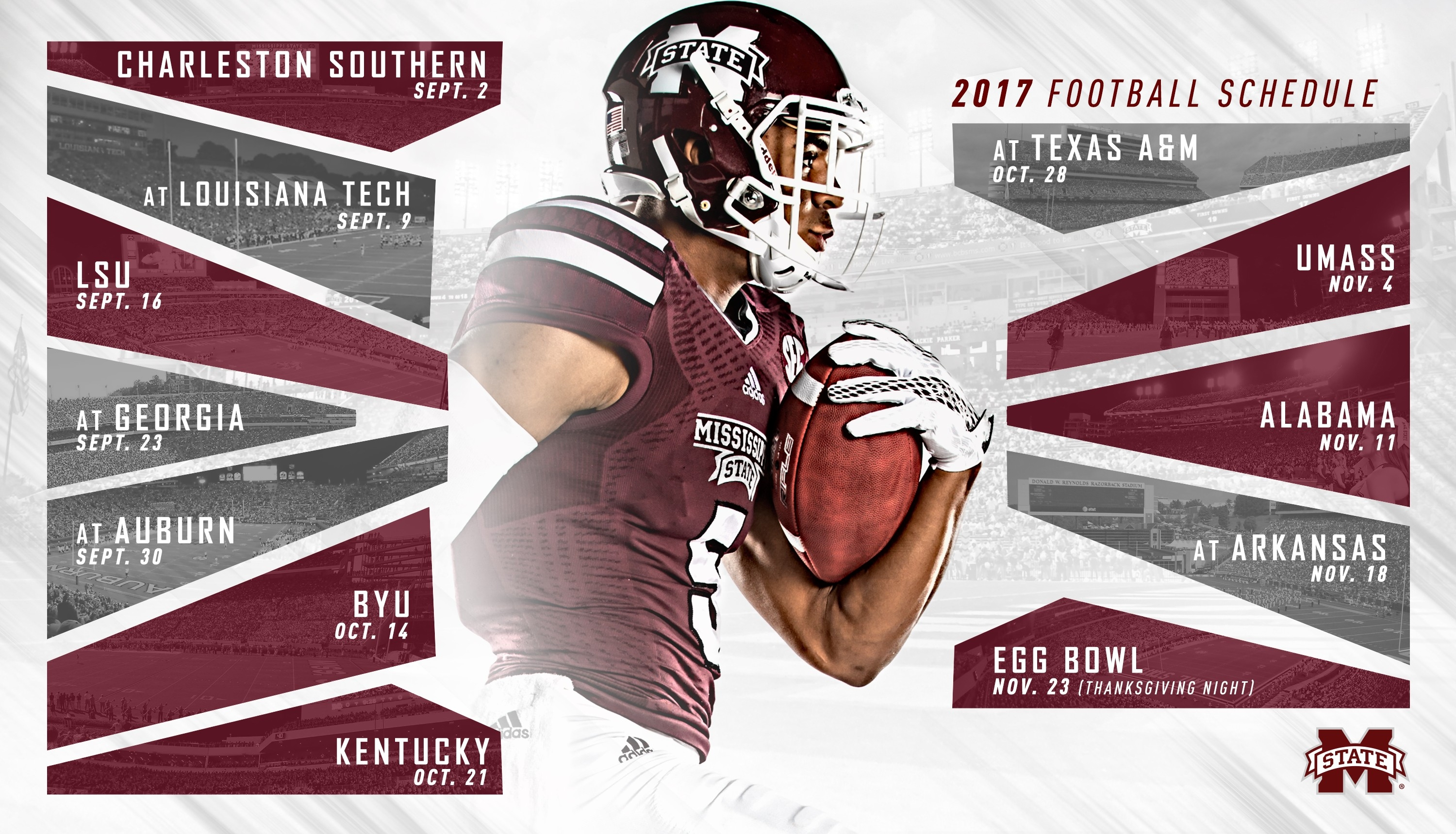 2017 Msu Football Schedule Unveiled, Egg Bowl To Return To in Mississippi State Football Schedule 48113