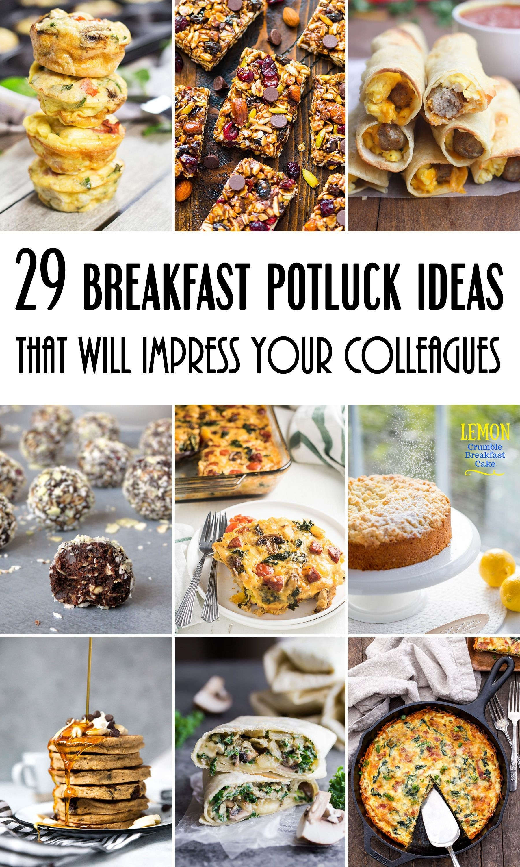 29 Breakfast Potluck Ideas For Work That Will Impress Your for Breakfast Potluck Ideas 37632