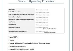 37 Best Standard Operating Procedure (Sop) Templates regarding Standard Operating Procedure Examples