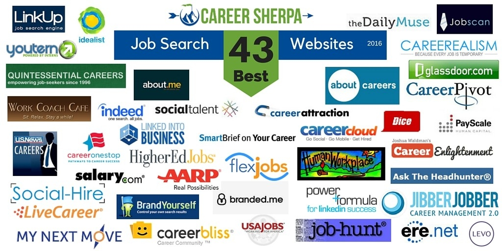 43 Best Job Search Websites 2016 | Career Sherpa with regard to Job Listing Sites 37318