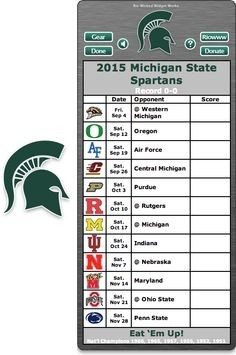 52 Best Michigan State Spartans Images On Pinterest In 2018 regarding Michigan State Football Schedule 2015 48247