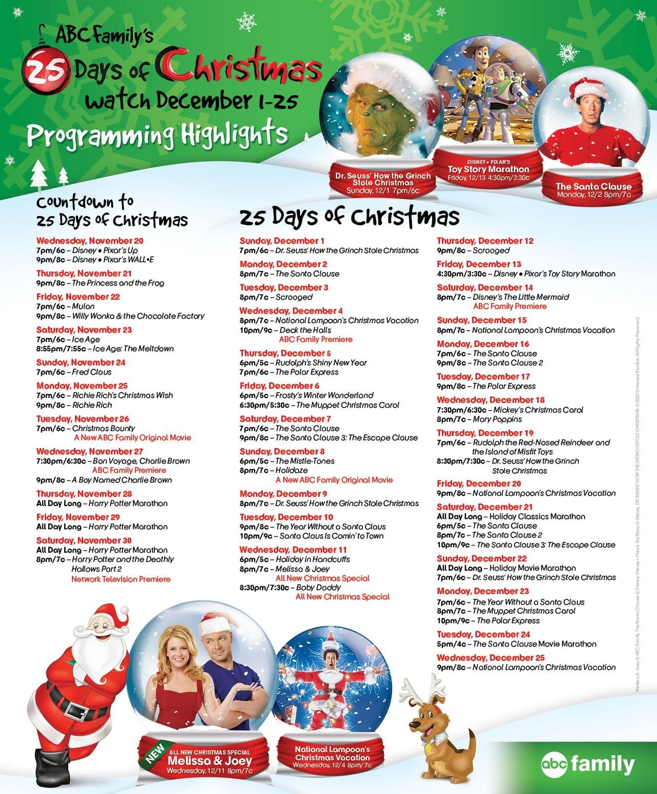 Abc's Christmas Movie List, 2013 | Christmas Movies | Pinterest in Abc Family Tv Schedule 45906