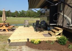 Add Deck For Summer Rv Home For Lovely Outdoor Space | Rving within Rv Deck Ideas