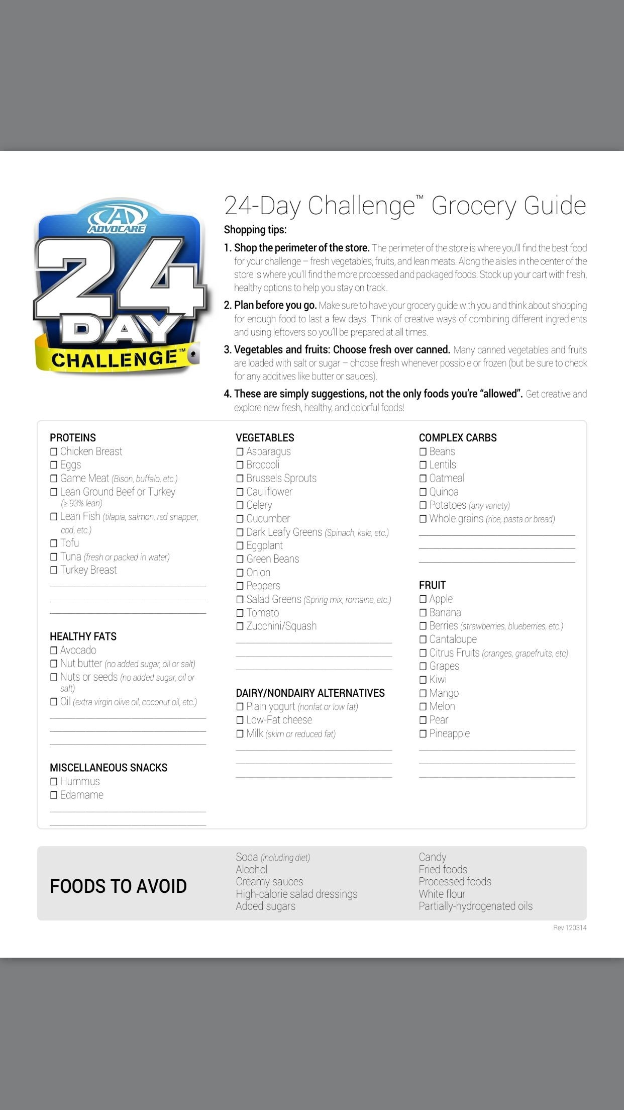 Advocare 24 Day Challenge Grocery List. Www.ashleetayhenderson with regard to Advocare 24 Day Challenge Grocery List 36748
