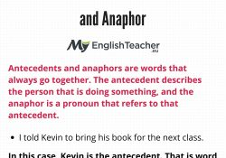 Antecedent Definition - Myenglishteacher.eu in Definition Of Antecedent
